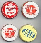 4 Vintage Soda Pop Syrup Lids