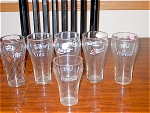 Collection Of 6 Coke Traditional Glasses