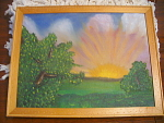 Original Oil Morning Sunrise Painting On Canvas