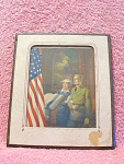 For God And Country Litho, Usa With Frame