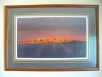 1989 September Sunset, Cleveland, Ohio Skyline