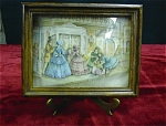 Framed 3 Dimensional Victorian Scene Print