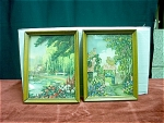2 Watercolor Prints By M. Vivier