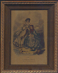 Mode Illustree 1864 No. 52 Print Of 2 Women