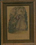 Mode Illustree 1864 No. 53 Print Of 2 Women