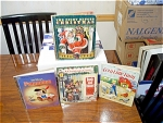 4 Vintage Books And 1 Book Record For Child