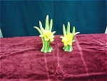 Pair Of Fitz & Floyd Daffodil Candlesticks