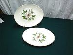 2 Oval Dinner Platters