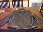 Wilsons Leather Black Motorcycle Style Jacket