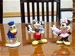3 Disney Figurines By Enesco Pottery
