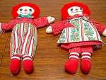 Raggedy Ann And Andy Christmas Dolls