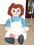 Huge Hand Made 35 Inch Raggedy Ann Doll