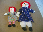 Giant Raggedy Ann With Paddington Bear Dress And Anothe