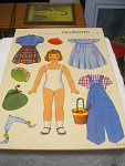 22 Piece Paper Doll Booklet With Girl And Boy, Circa 19
