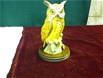6 ¾ Inch Lefton Owl With Wood Base