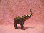 Copper Colored Metal Elephant Figurine