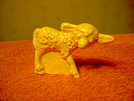Retro Decorated Yellow Lamb Figurine