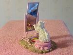 Cat Looking In The Mirror Figurine Set