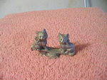Pair Of Pewter Kittens On A See Saw Figurine