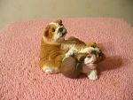 Bulldogs Bad To The Bone Figurine With 2 Cut Bulldogs