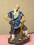 Detailed Proud Woodsman Oriental Mud Figurine