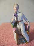 Man In Dance Suit On Chair Figurine, Marked 8572, Germa