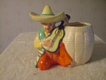Mexican Man Playing Guitar Or Vandolin