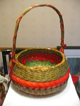 Ftda Weaved Basket With Handle And Decorated