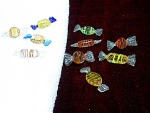 10 Pieces Of Art Glass Hard Candy