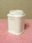 Colgates Mirage Cream Milk Glass Bottle, No Cap
