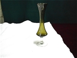 8 ¼ Inch Green Bud Hour Glass Shaped Vase