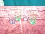 4 Depression Glass Juice Glasses