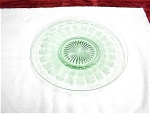 12 Inch Green Depression Glass Platter