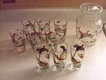 10 Piece Decorative Birds Water Set, Pitcher With Ice L