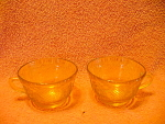 2 Amber Madrid Pattern, Maybe, Cups By Federal Glass Co