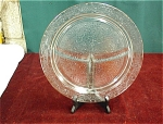 Depression Glass Crystal Grill Plate