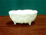 Mckee Milk Glass Bowl On Three Legs