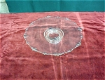 13 ¾ Inch Footed Heisey Crystal Platter