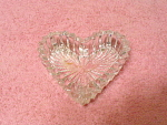 Heisey Heart Shaped Crystal Ashtray