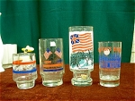 4 Bicentennial Collector Glasses