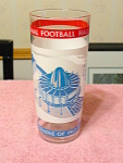 1970s National Football Hall Of Fame Collectible Glass