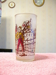 1970s David Copperfield Frosted Collectible Glass