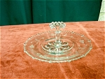 Paden City Glass Center Handle Crystal Tray
