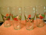 Collection Of 4 Big Boy Restaurant Christmas Glasses