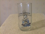 1987 Dominos Pizza Avoid The Noid Collector Glass