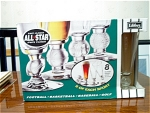Mib 8 All Star Sports Pilsner Glasses By Libbey Glass
