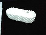 9 ½ Inch Fenton Hobnail Milk Glass Planter