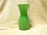 Jadite Art Noveau Vase With Milk Glass