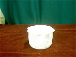 Milk Glass Crimped Bowl