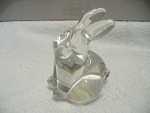 Glass Rabbit Paperweight